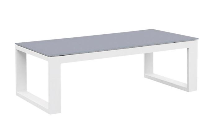 Table basse de jardin grise en aluminium - BELLY