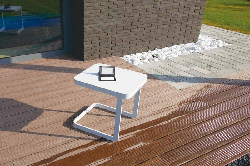 Table basse de jardin carré en aluminium - LEXY