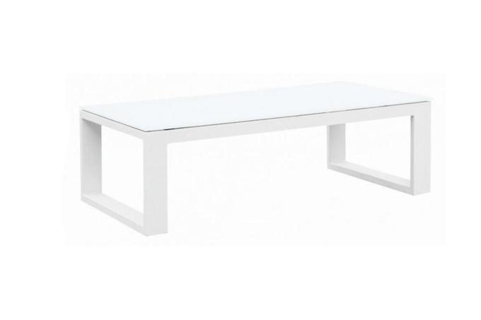 Table basse de jardin blanche en aluminium - BELLY